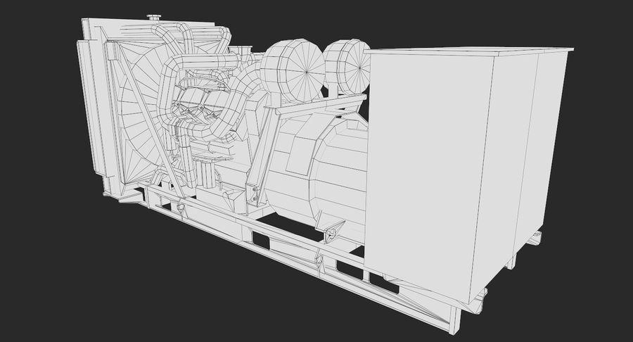 Diesel Generator royalty-free 3d model - Preview no. 11