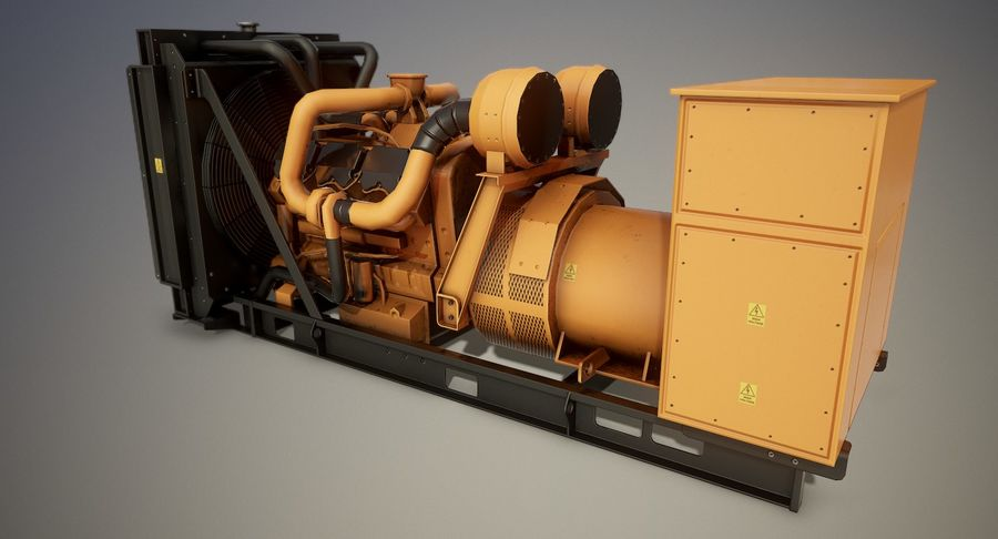 Diesel Generator royalty-free 3d model - Preview no. 3