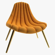 Brigitte Navy Lounge Chair 3d model