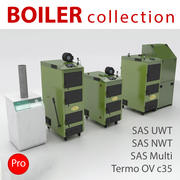 Heating Equipments - Boiler collection 3d model