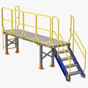 Plate-forme d'accès bas 3d model