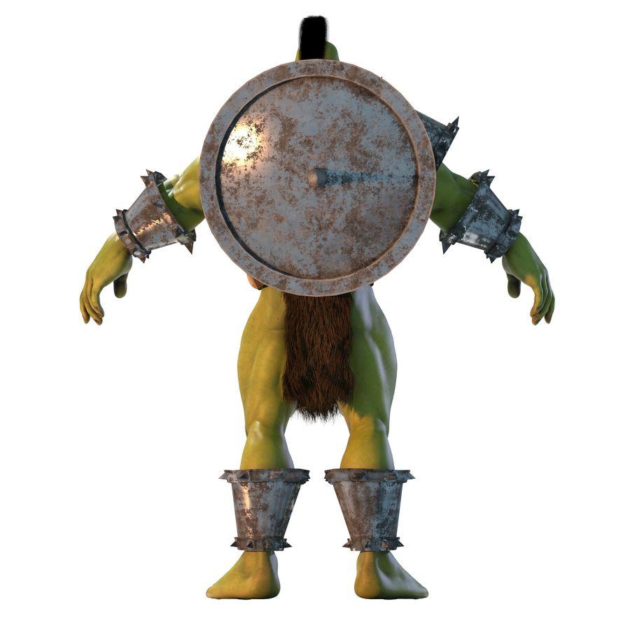 Personagem de fantasia Orc Troll royalty-free 3d model - Preview no. 4