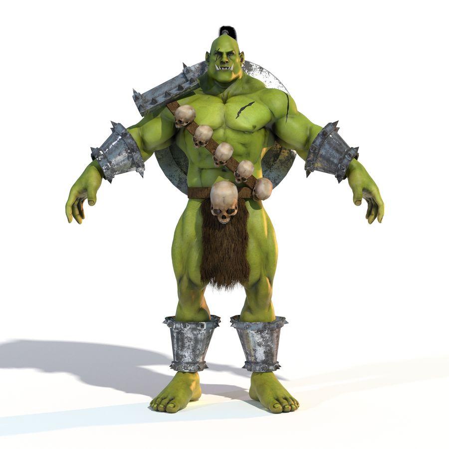 Personagem de fantasia Orc Troll royalty-free 3d model - Preview no. 2