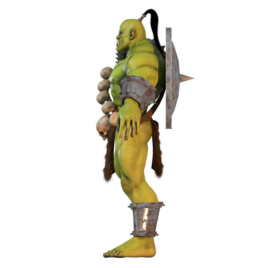 Personagem de fantasia Orc Troll royalty-free 3d model - Preview no. 3