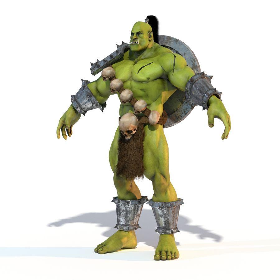 Personagem de fantasia Orc Troll royalty-free 3d model - Preview no. 1