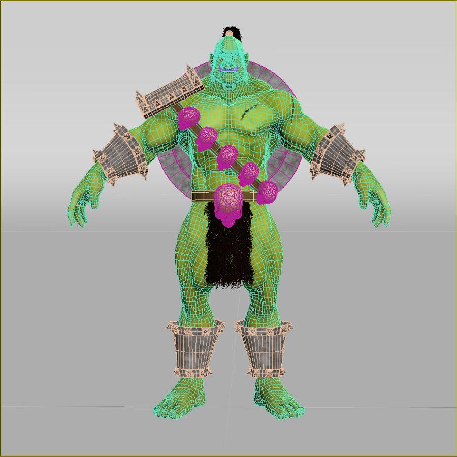 Personagem de fantasia Orc Troll royalty-free 3d model - Preview no. 5