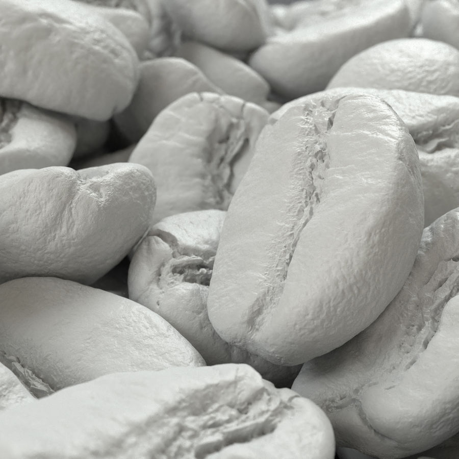coffee beans royalty-free 3d model - Preview no. 2