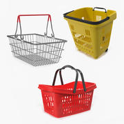 Shopping Baskets 3D Models Collection 3d model