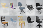 10 Chair Collection 3d model