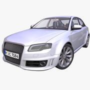 Generieke Duitse Sedan 3d model