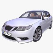 Generieke Europese Sedan 3d model