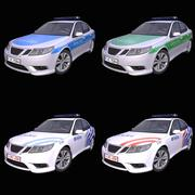 Generisk europeisk polisbil 3d model