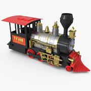 Train Toy Locomotive Rigged 3D Model 3d model