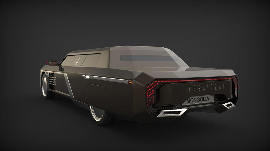 Président nouveau concept de voiture de limousine royalty-free 3d model - Preview no. 3
