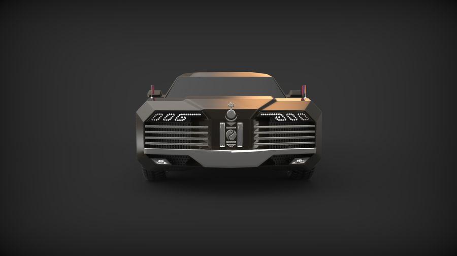 Président nouveau concept de voiture de limousine royalty-free 3d model - Preview no. 5