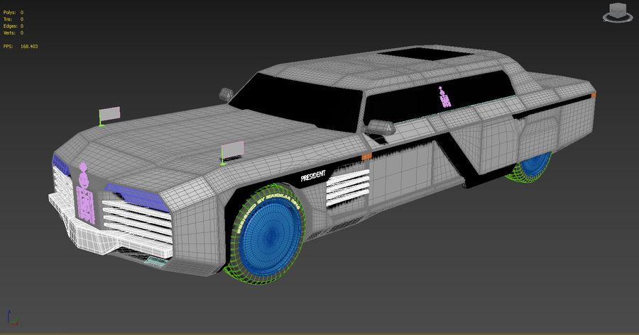 Président nouveau concept de voiture de limousine royalty-free 3d model - Preview no. 6