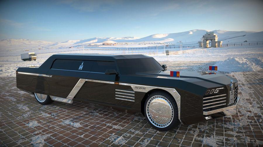 Président nouveau concept de voiture de limousine royalty-free 3d model - Preview no. 10