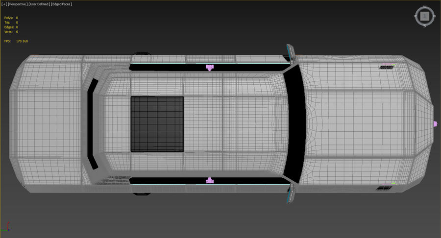 Président nouveau concept de voiture de limousine royalty-free 3d model - Preview no. 9