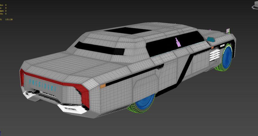 Président nouveau concept de voiture de limousine royalty-free 3d model - Preview no. 7