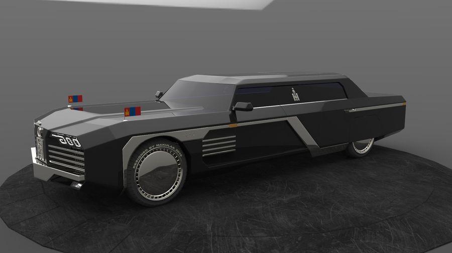 Président nouveau concept de voiture de limousine royalty-free 3d model - Preview no. 11
