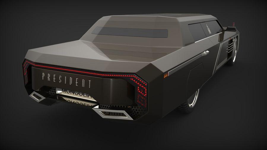 Président nouveau concept de voiture de limousine royalty-free 3d model - Preview no. 4