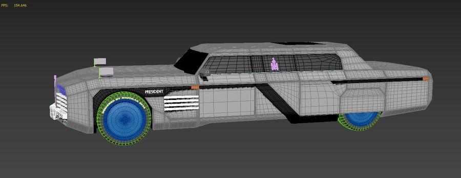 Président nouveau concept de voiture de limousine royalty-free 3d model - Preview no. 8