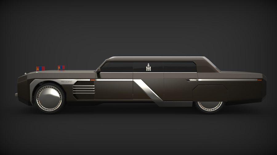 Président nouveau concept de voiture de limousine royalty-free 3d model - Preview no. 2