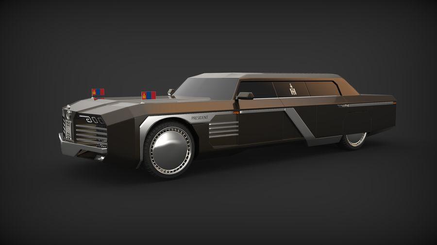 Président nouveau concept de voiture de limousine royalty-free 3d model - Preview no. 1