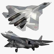 Sukhoi 57 PAK-FA (1) 3d model
