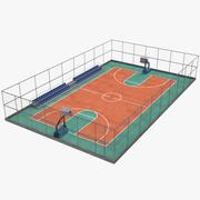 Basketball Feld 3d model