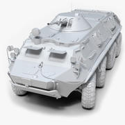 Soviet APC BTR-60 Untextured 3d model