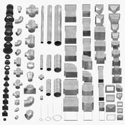 Deckenlüftungselemente-Sammlung 3d model