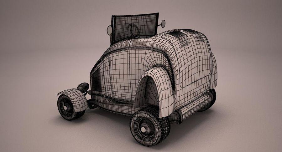 Antique Cartoon Car royalty-free 3d model - Preview no. 10