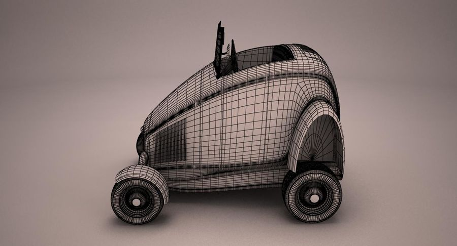 Antique Cartoon Car royalty-free 3d model - Preview no. 9