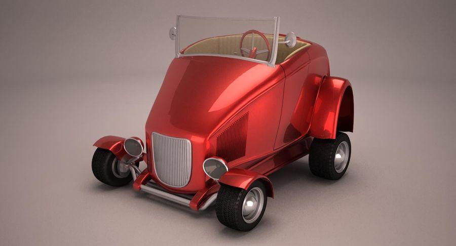 Antique Cartoon Car royalty-free 3d model - Preview no. 2