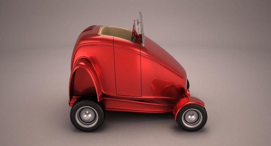 Antique Cartoon Car royalty-free 3d model - Preview no. 6