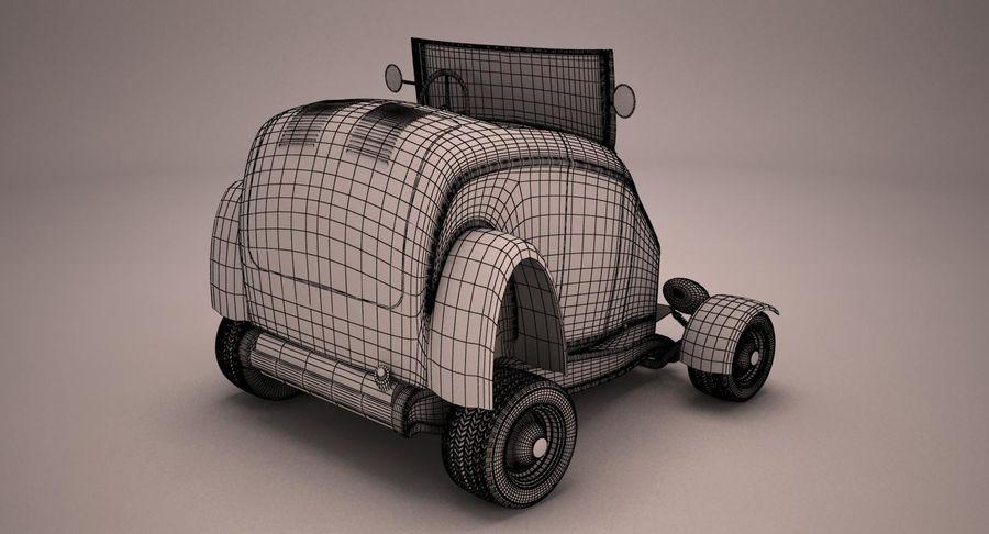 Antique Cartoon Car royalty-free 3d model - Preview no. 11