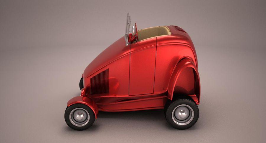Antique Cartoon Car royalty-free 3d model - Preview no. 3