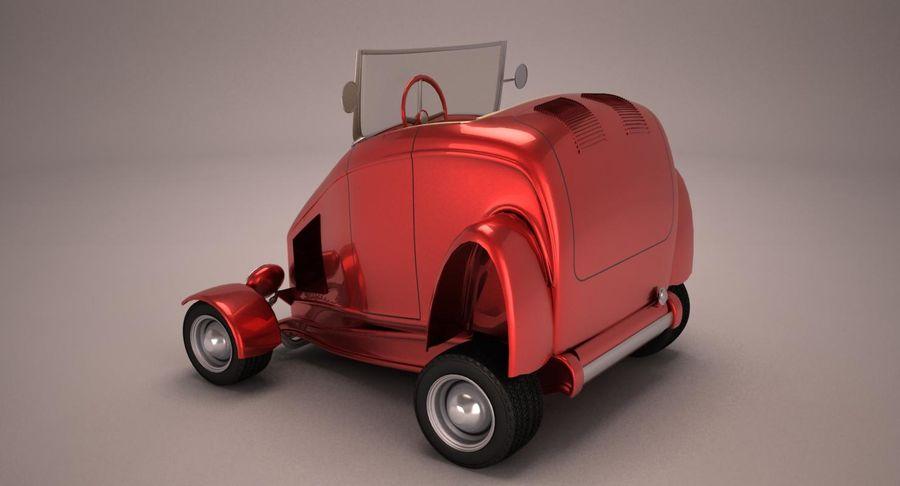 Antique Cartoon Car royalty-free 3d model - Preview no. 4