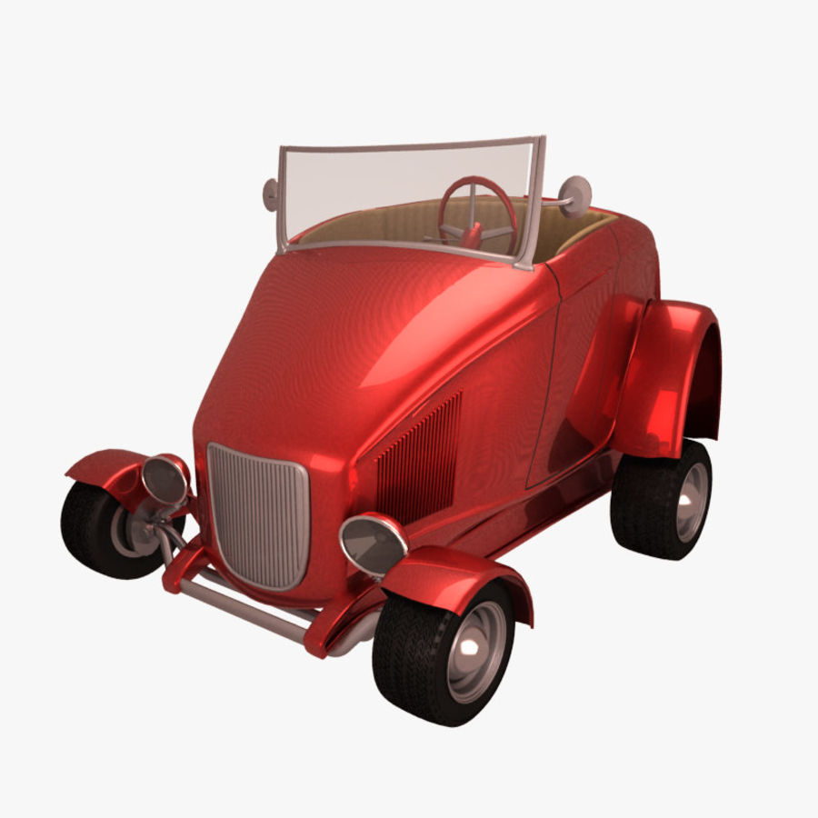 アンティーク漫画車 royalty-free 3d model - Preview no. 1