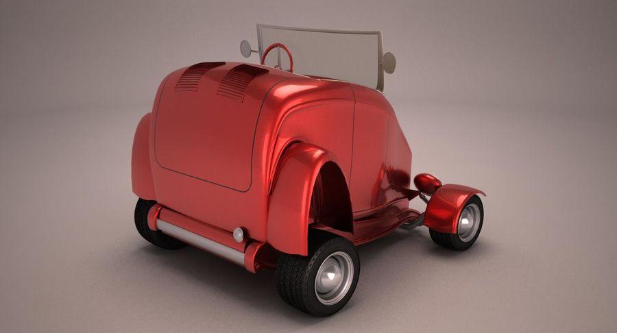 Antique Cartoon Car royalty-free 3d model - Preview no. 5