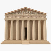 The Parthenon Low Poly 3D Model 3d model