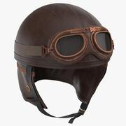 레트로 에비에이터 헬멧 3d model