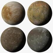 Galilean Moons Jupiter 3d model
