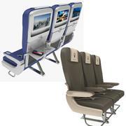 비행기 의자 수집 3d model