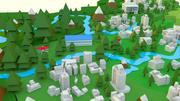 Mapa da China 3d model