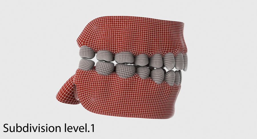 Bouche royalty-free 3d model - Preview no. 27