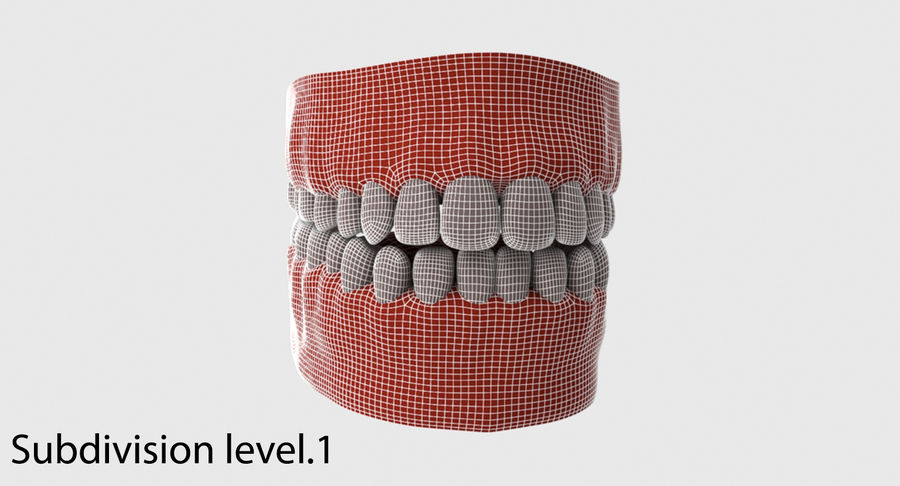 Bouche royalty-free 3d model - Preview no. 25