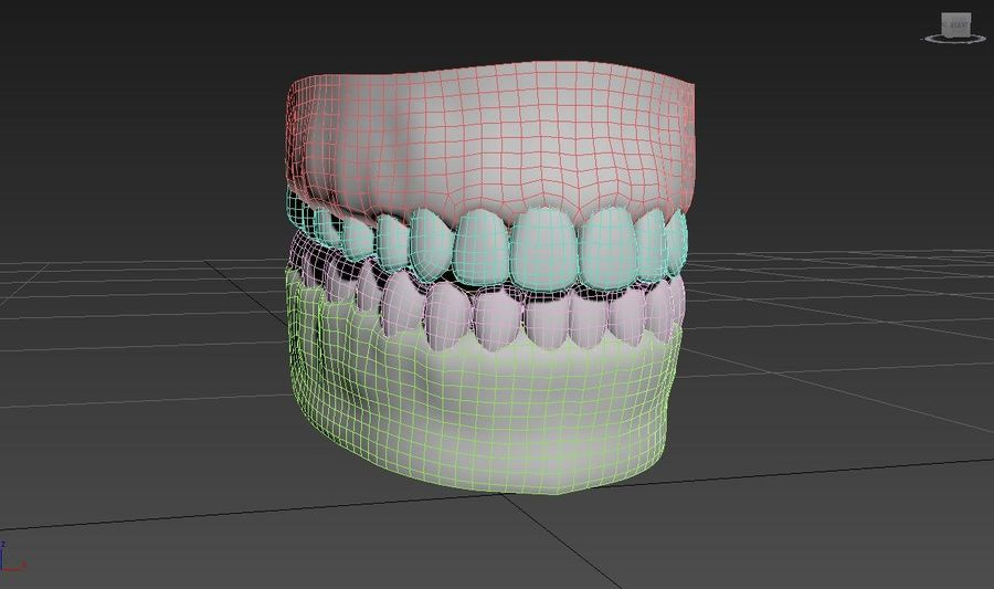 Bouche royalty-free 3d model - Preview no. 23