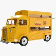 시트로엥 트럭 노랑 3d model